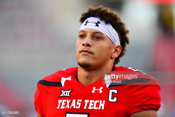 texas tech quarterback patrick mahomes