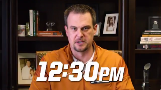 Tom Herman Texas Student Appreciation Practice