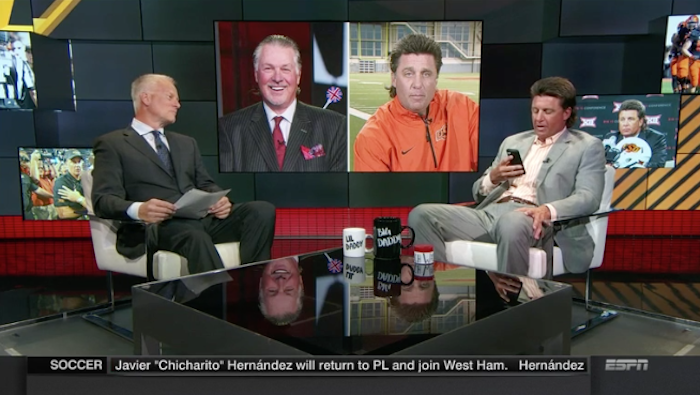 Mike Gundy and Barry Melrose