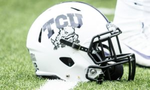 tcu horned frogs football helmet