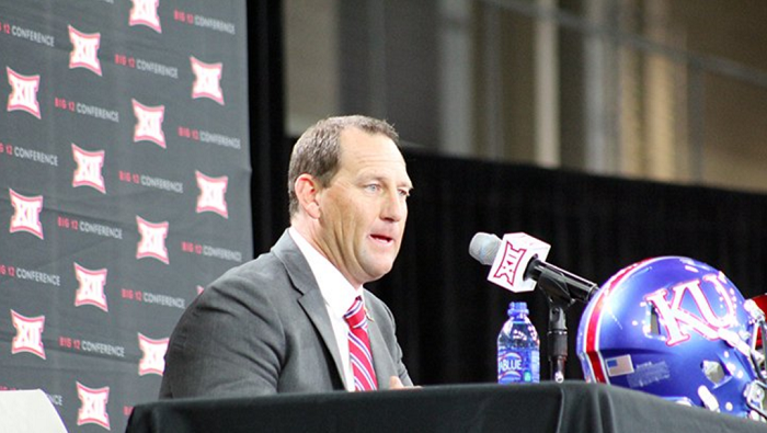 Kansas head coach David Beaty