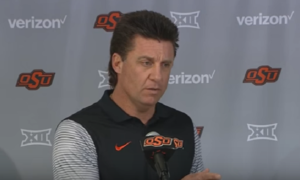Oklahoma State head coach Mike Gundy