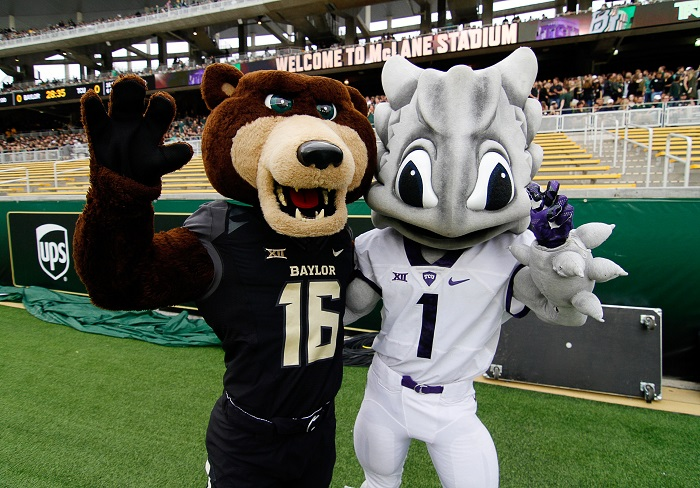 TCU and Baylor mascots