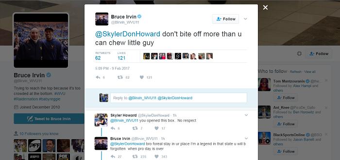 bruce irvin skyler howard twitter