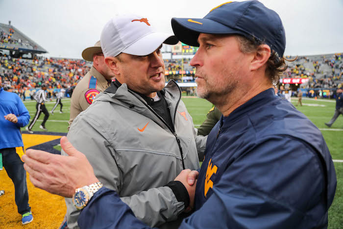 NCAA Football: Texas at West Virginia
