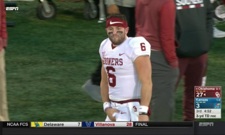 baker mayfield crotch grab
