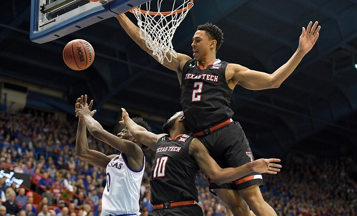 NCAA Basketball: Texas Tech at Kansas