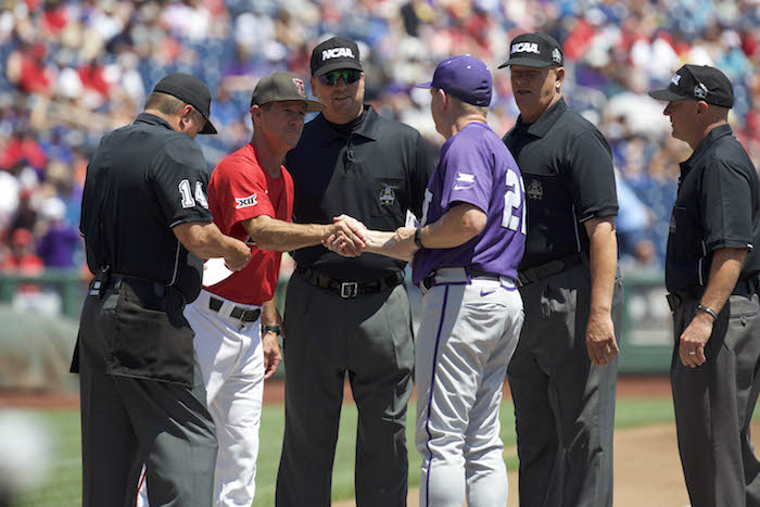 NCAA Baseball: College World Series-TCU vs Texas Tech