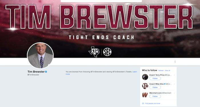 Tim Brewster Twitter