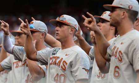 NCAA Baseball: College World Series-Arkansas vs Texas