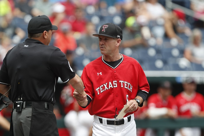 NCAA Baseball: College World Series-Arkansas vs Texas Tech