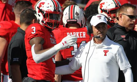 NCAA Football: Kansas at Texas Tech