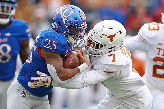 NCAA Football: Texas at Kansas