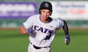 Kansas State baseball player Will Brennan