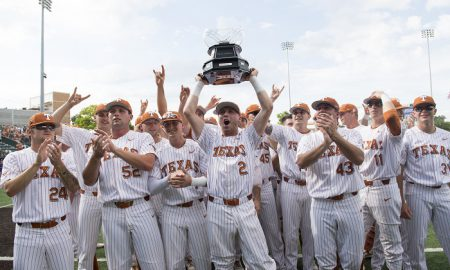 texas longhorns baseball celebration
