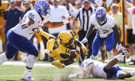 NCAA Football: Kansas at West Virginia