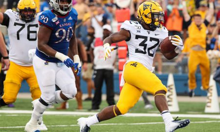 NCAA Football: West Virginia at Kansas