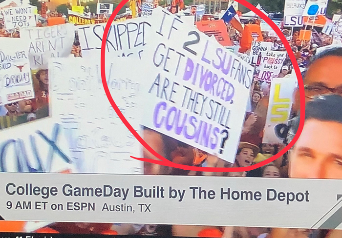 college gameday photo from texas