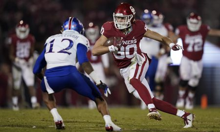 NCAA Football: Kansas at Oklahoma
