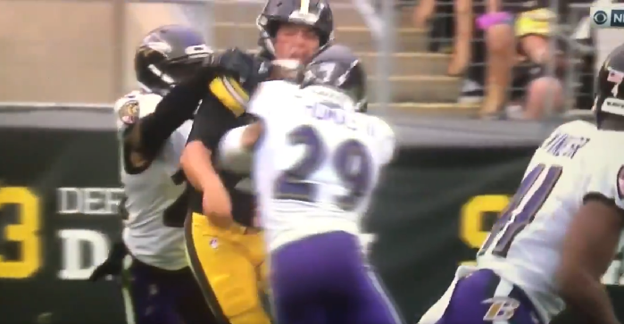 Mason Rudolph Steelers Qb Hit Hard By Earl Thomas