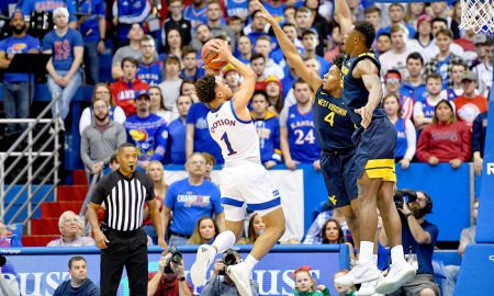 NCAA Basketball: West Virginia at Kansas