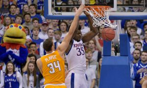 NCAA Basketball: Tennessee at Kansas