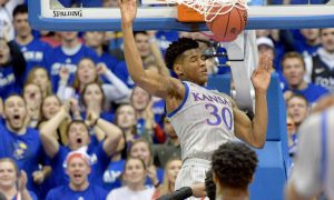 NCAA Basketball: Oklahoma State at Kansas