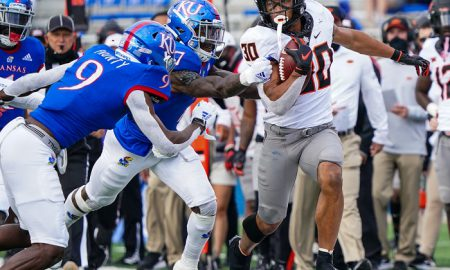 NCAA Football: Oklahoma State at Kansas