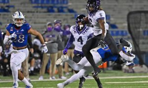 NCAA Football: Texas Christian at Kansas