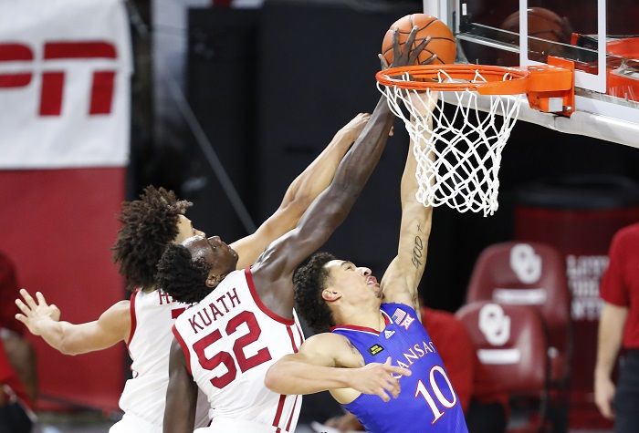 NCAA Basketball: Kansas at Oklahoma