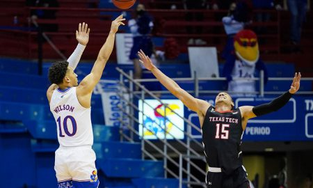 NCAA Basketball: Texas Tech at Kansas